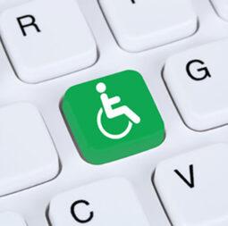 knop rolstoel icoon toetsenbord
